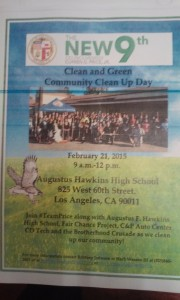 Poster for the 9th Clean and Green Community Clean Up Day